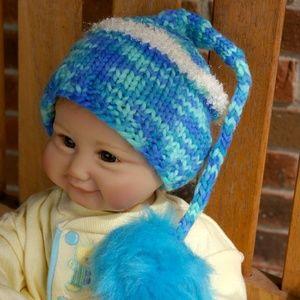 The Perfect Pixie Hat w/Pom - Newborn 0-3 Months